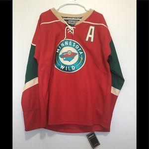 Reebok Minnesota Wild Embroidered Jersey Shirt